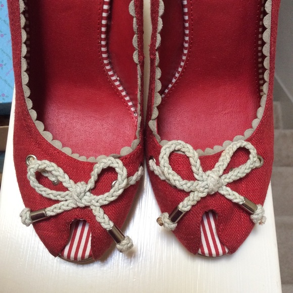 Nine West Shoes - Nautical Nine West Chord Bow Heels Red